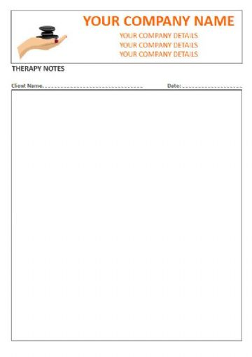 Massage Therapist, Open Style Therapy Note Pads